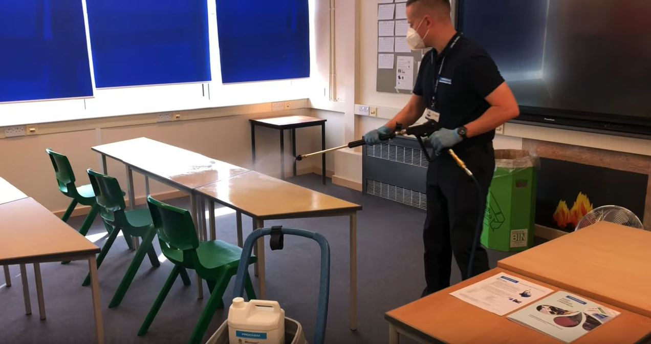 Kent school adds Prochem misting system to anti-Covid cleaning programme