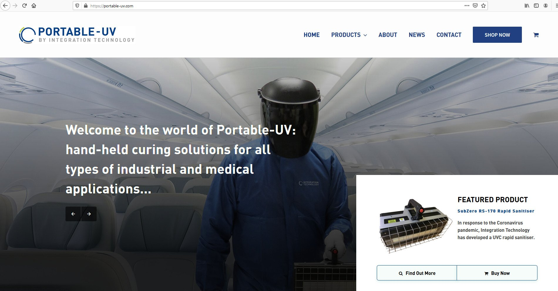 Integration Technology launches Portable-UV.com one-stop shop for sanitising and curing systems